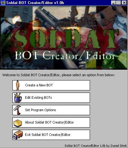 Soldat Bot Editor